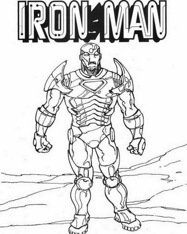 Disegni Da Colorare Di Iron Man