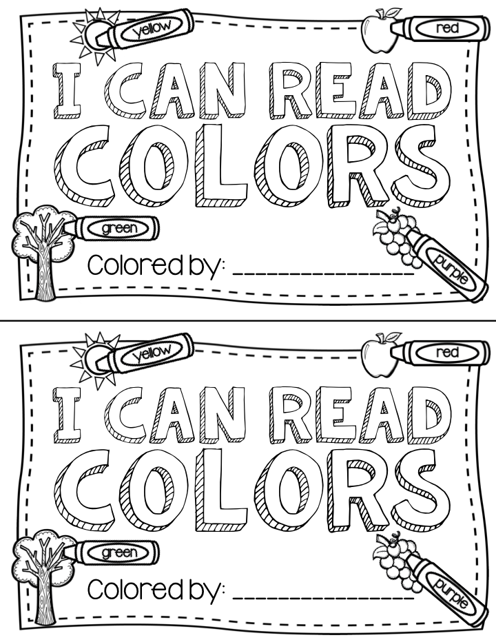 Teacher Laura: Color Freebie Book