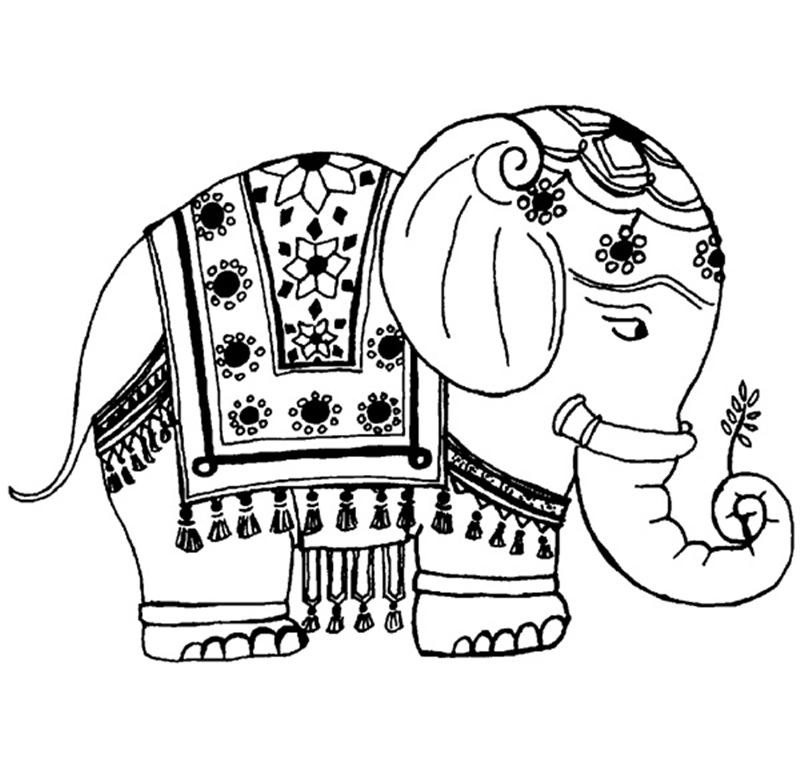Indian Elephant Drawing Clipart Panda Free