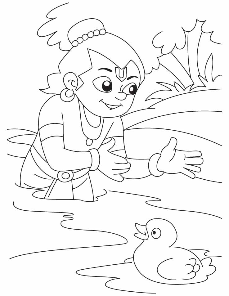Color lover az colorare for Coloring pages of krishna