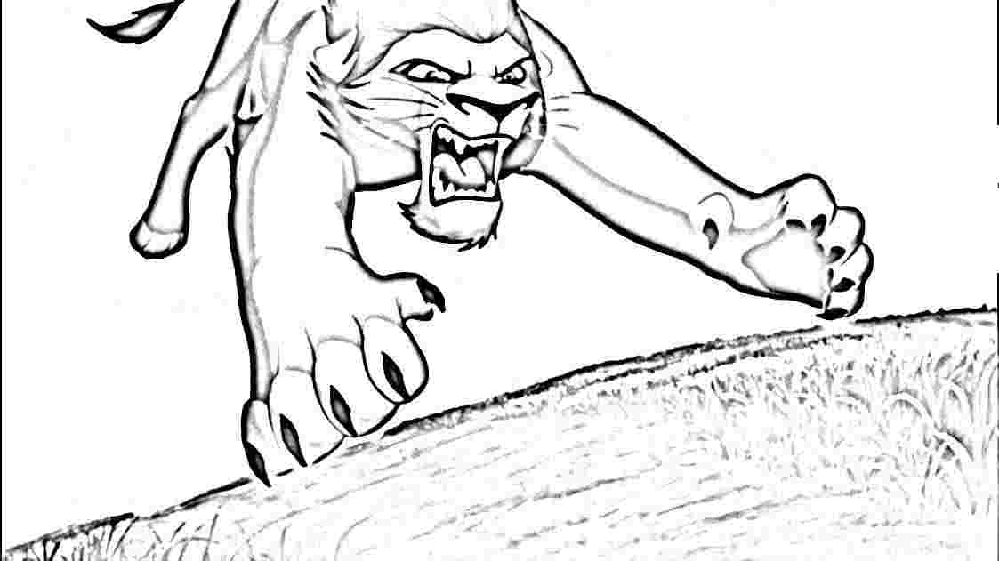 Simba e scar az colorare for Lion king scar coloring pages