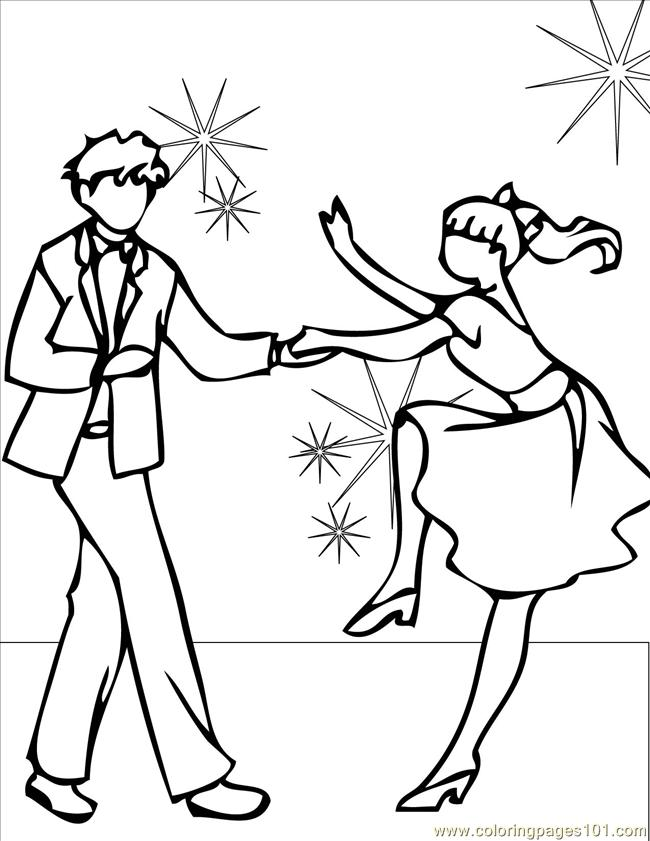 Coloring Pages Swing Ink (Entertainment > Dancing) - free ...