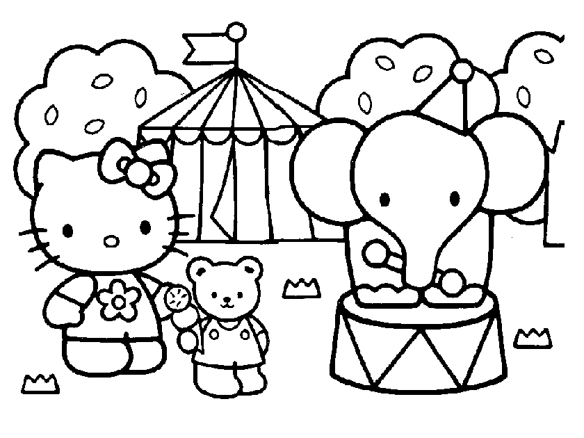 disegni da colorare hello kitty circo da colorare | | Donnee.