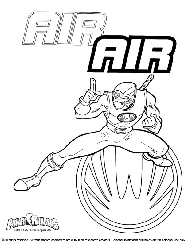 zeo power rangers Colouring Pages (page 3)