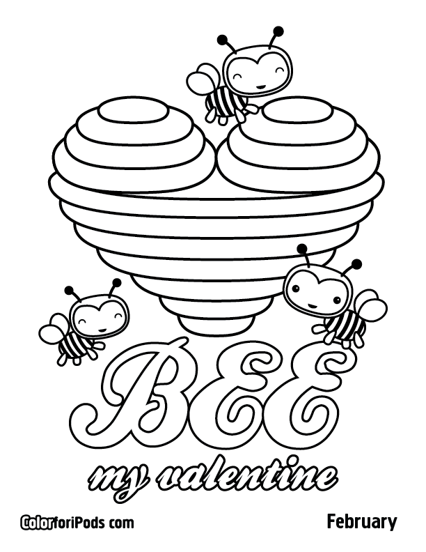 Valentines Activities for Kids | Valentines Day Color Pages | Pi ...