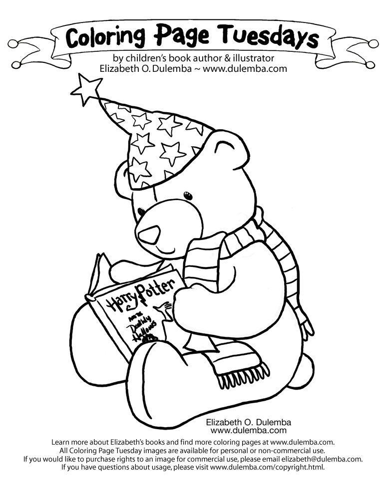 Coloring & Activity Pages: Harry Potter Teddy Bear Coloring Page