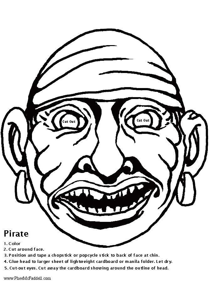 Pirate Mask 1 Coloring Project