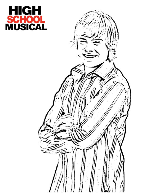 high cool musical Coloriage