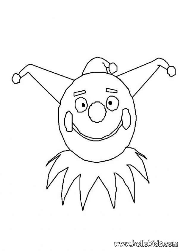 CIRCUS coloring pages - Clown mask