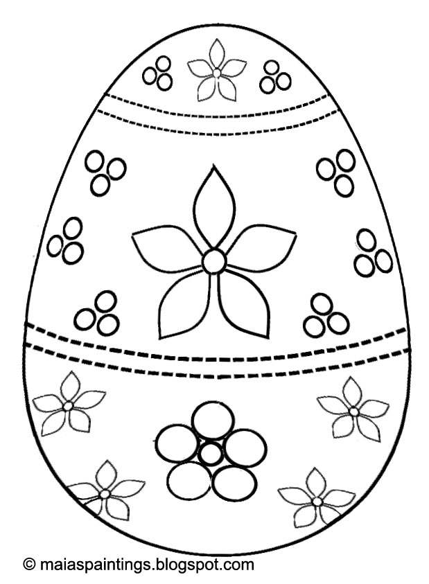 Easter egg-coloring page for kids- egg painting model