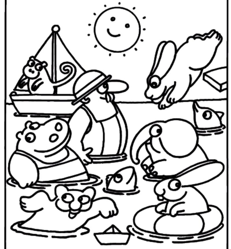 Pimpa Colouring Pages