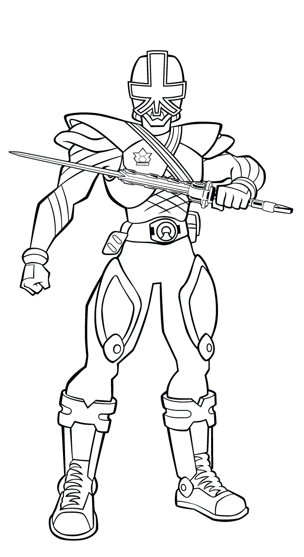 Red power ranger saumari Colouring Pages (page 3)