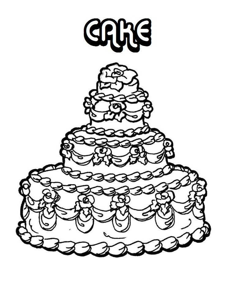 Coloring Pages of Very Beautiful Cake | Coloring Pages