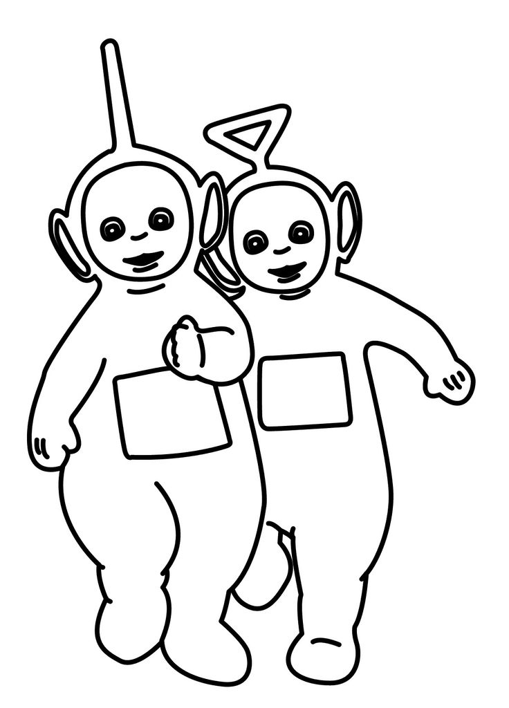 Laa laa teletubbies az colorare for Teletubbies dipsy coloring pages