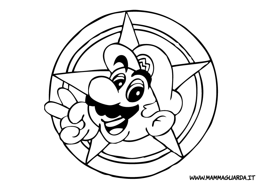 Cartoni mario bros az colorare for Disegni mario bros