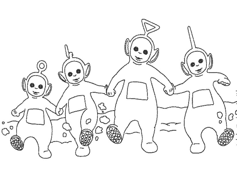 Pictures Teletubbies And Noo Noo Coloring Pages - Teletubbies ...