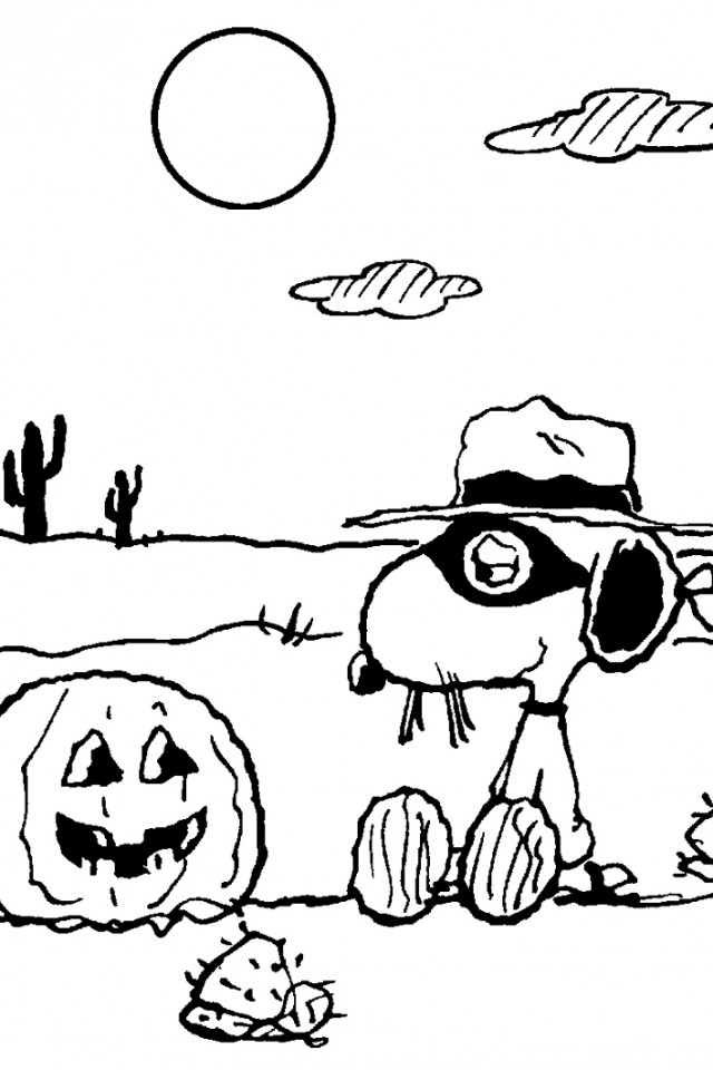 Charlie Brown Halloween Coloring Pages | download free printable ...
