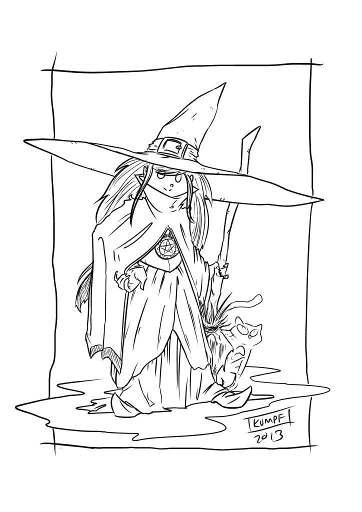 October 30th - Witches : SketchDaily