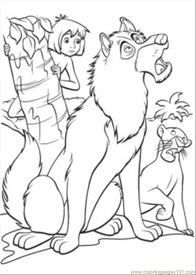 Bagheera And Mowgli Coloring Page Car Pictures