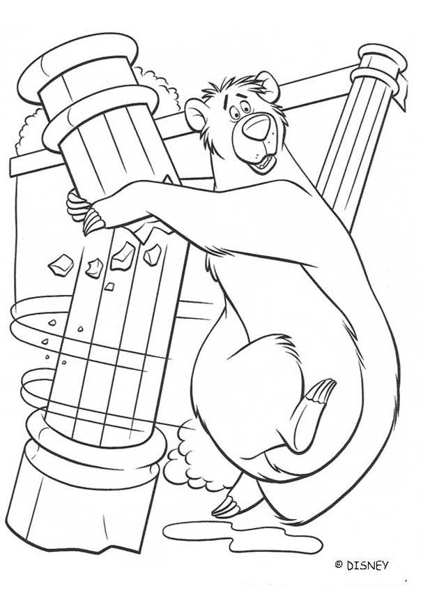 THE JUNGLE BOOK Original movie printables - BALOO in King Louie ...