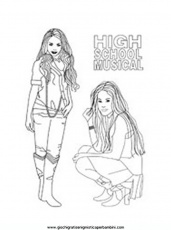 disegni da colorare high school musical