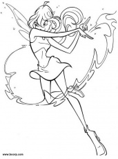 disegni da colorare on line winx