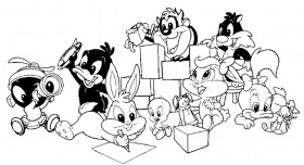 baby looney toons da colorare