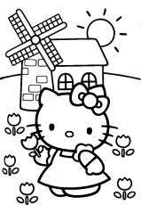 colora tutto hello kitty