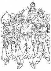 immagini dragon ball da colorare